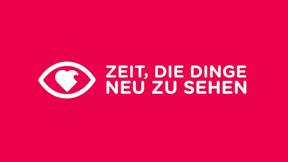 """Das Logo der Initiative: """"Zeit, die Dinge neu zu sehen""""."""