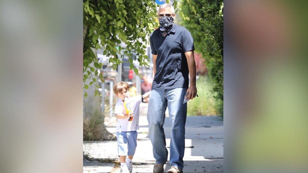 George Clooney in LA mit seinem Sohn Alexander
