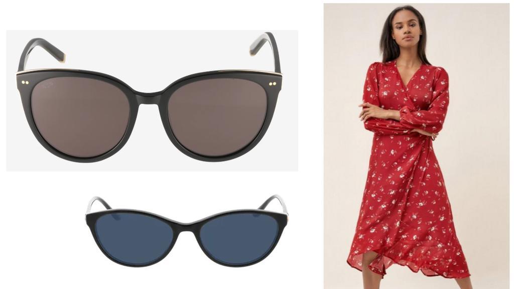 Sonnenbrillen-Look.