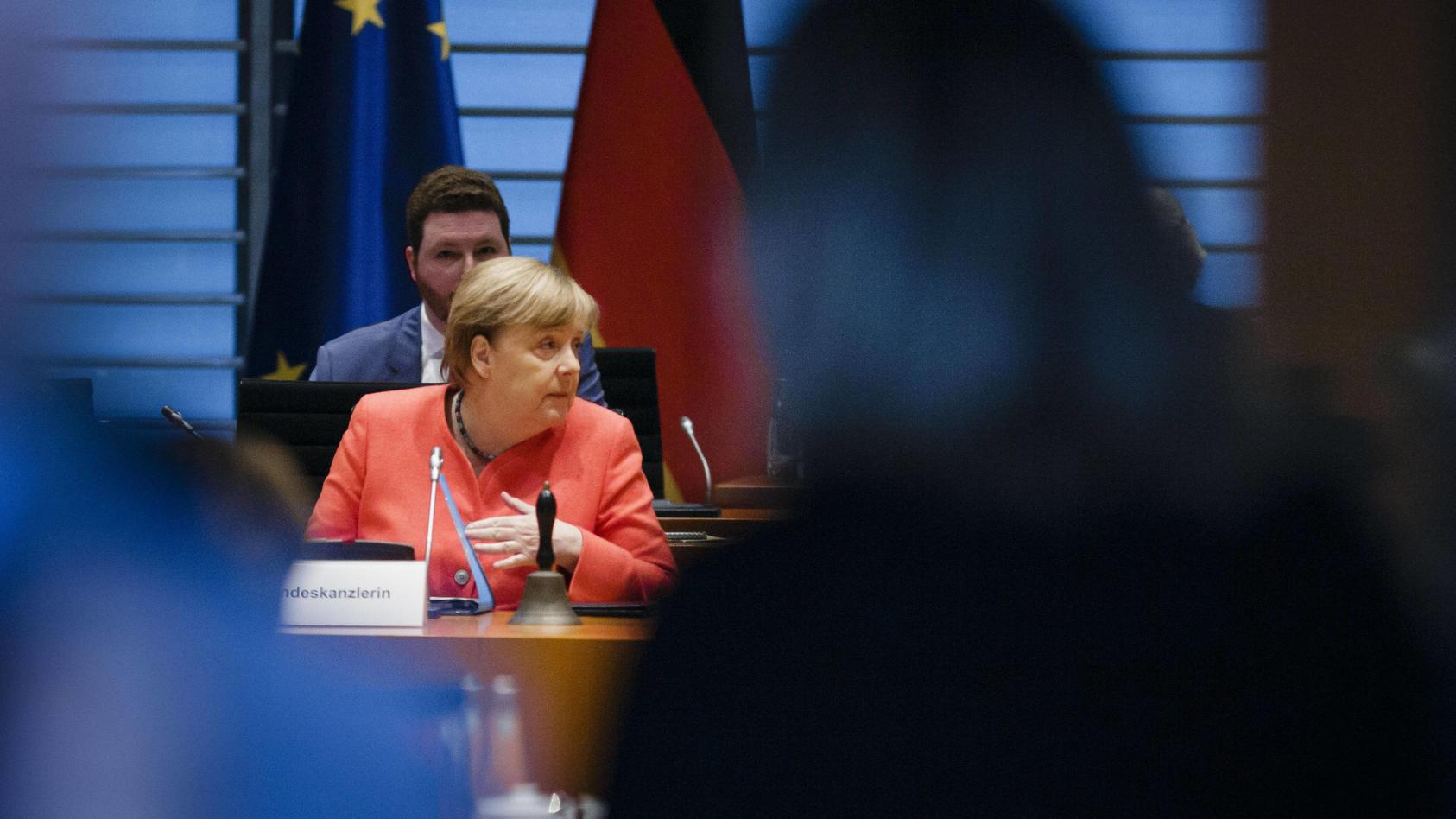 Bundeskanzlerin Angela Merkel, CDU, aufgenommen zu Beginn einer Kabinettsitzung. Berlin, 15.07.2020 Berlin Deutschland