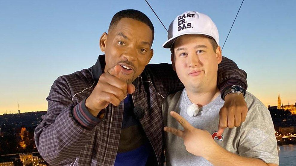 Will Smith und Chris Tall beim gemeinsamen Interview in Budapest
