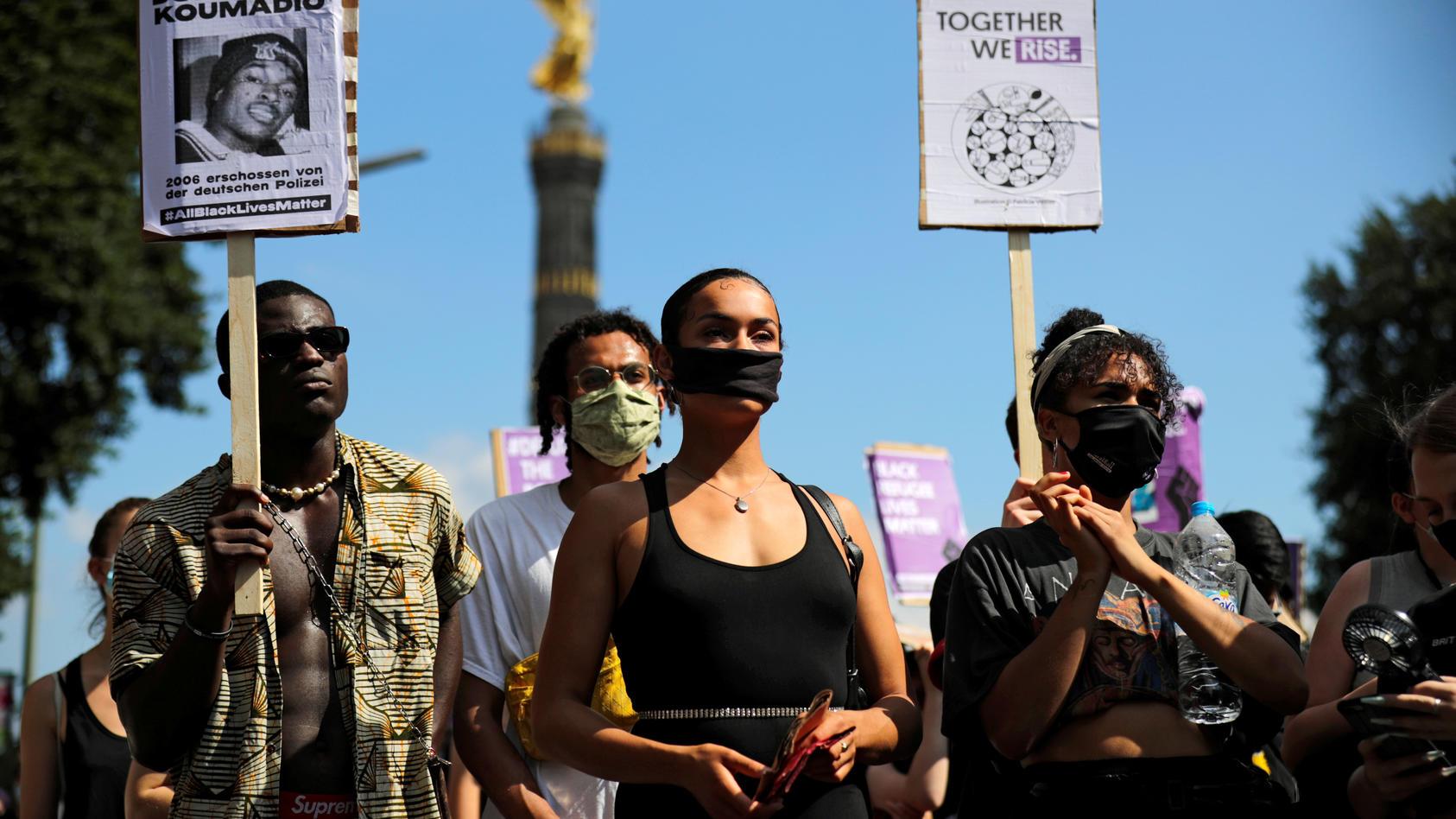 """Black Lives Matter""-Demonstration in Berlin."