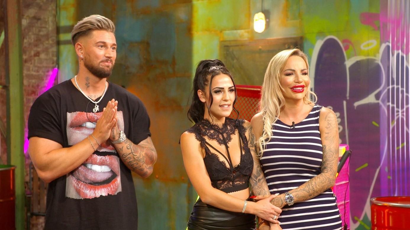"""Mike Heiter und Elena Miras moderieren die neue Show """"Just Tattoo Of Us"""", in der sich Gina-Lisa Lohfink tätowieren lässt"""