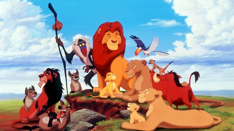 """Simba als König der Tiere. Am 17.11.1994 kam der Walt Disney-Zeichentrickfilm """"Der König der Löwen"""" in die deutschen Kinos. Der Streifen, der in den USA in den ersten neuen Wochen bereits über 240 Millionen Dollar einspielte, erzählt die allegorische"""