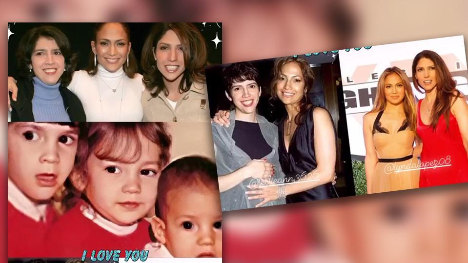 Jennifer Lopez zeigt ihre Schwestern Lynda und Leslie Ann.