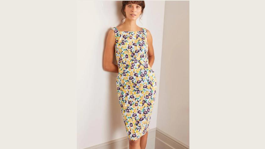 Klassisches Kleid mit Blumenmuster von Boden