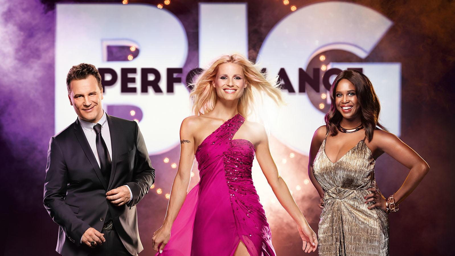 """Sie raten in der neuen RTL-Show """"Big Performance"""" fleißig mit: Guido Maria Kretschmer, Michelle Hunziker und Motsi Mabuse."""