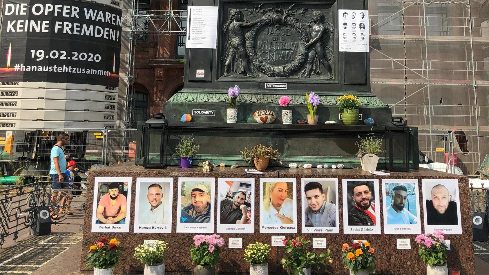 Bilder der Opfer des Anschlags in Hanau