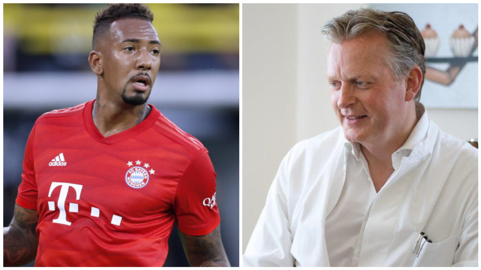 Im Streit: Jérôme Boateng und Schönheitschirurg Dr. med. Ludger Meyer