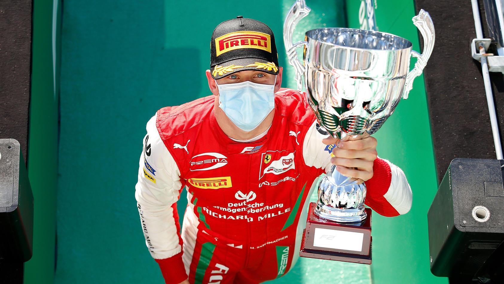 Mick Schumacher feiert seinen ersten Formel-2-Sieg in Monza
