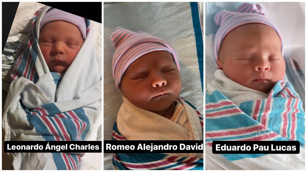 Leonardo (3),  Romeo (2) und Eduardo (1 Tag)
