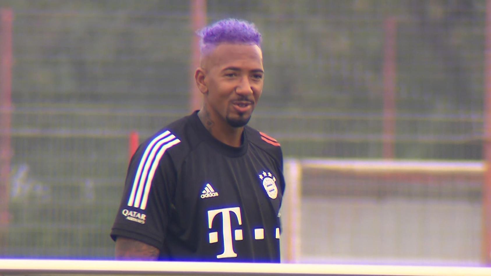Jerome Boateng beim Trainingsauftakt der Bayern