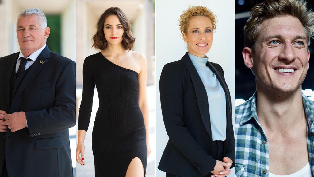V.l.: Heinz Hoenig, Asli Melisa Uzun, Claudia Hirsche undMartin Walde.