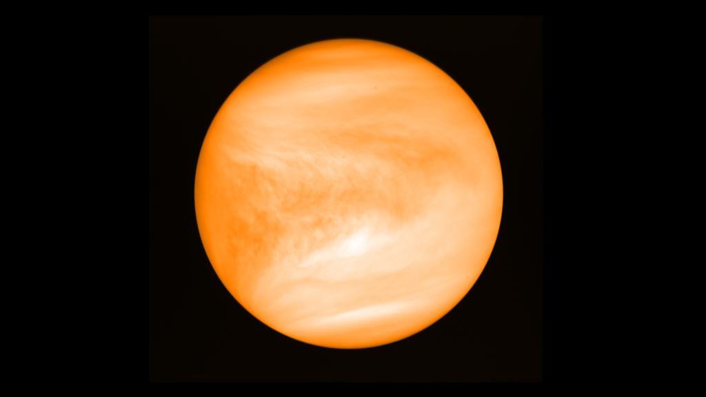 Der Planet Venus, aufgenommen von der Venussonde Akatsuki der japanischen Raumfahrtbehörde JAXA.
