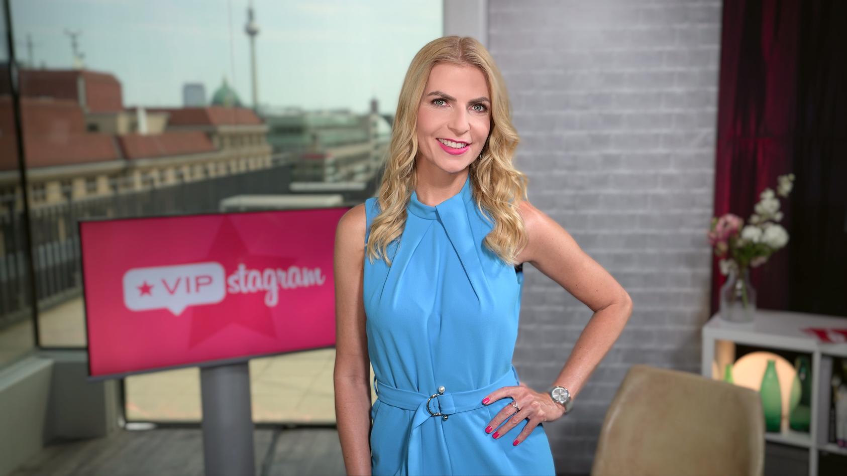 """Tanja Bülter moderiert die RTL-Webshow""""VIPstagram""""."""