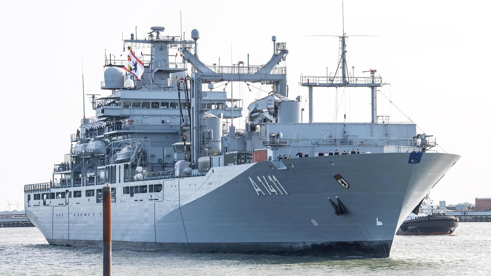 Versorgungsschiff «Berlin» von Nato-Mission zurückgekehrt