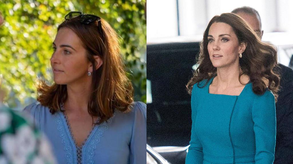Lisa Müller (l) und Herzogin Kate (r) sehen sich zum Verwechseln ähnlich.