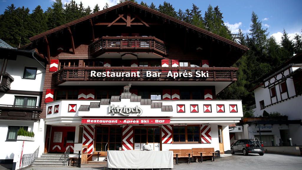 A general view of the Kitzloch apres-ski bar in Ischgl, Austria, July 23, 2020. Hundreds of Austrians were infected and thousands of foreign tourists say they were too as the coronavirus found a breeding ground in crowded apres-ski bars in the ski re