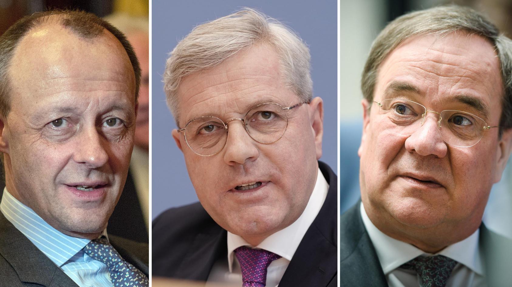 Merz, Röttgen, Laschet: Bewerber für den CDU-Vorsitz