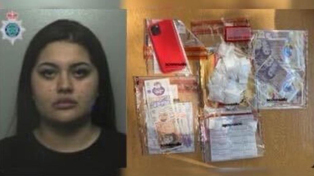 Die Beamten haben sechs Packungen Kokain in Alexandra Dobres Handtasche gefunden.
