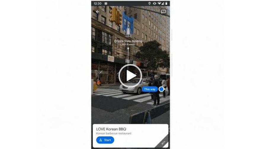 """Die neue """"Live View"""" Funktion von Google Maps soll die Orientierung verbessern."""