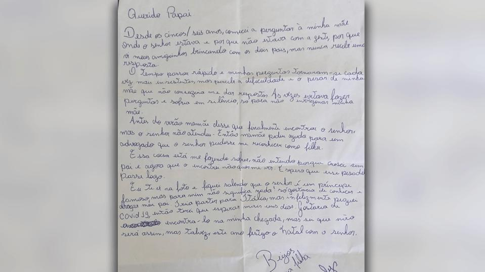 Dieser Brief hatte Fürst Albert von Monaco Ende September im Postfach.