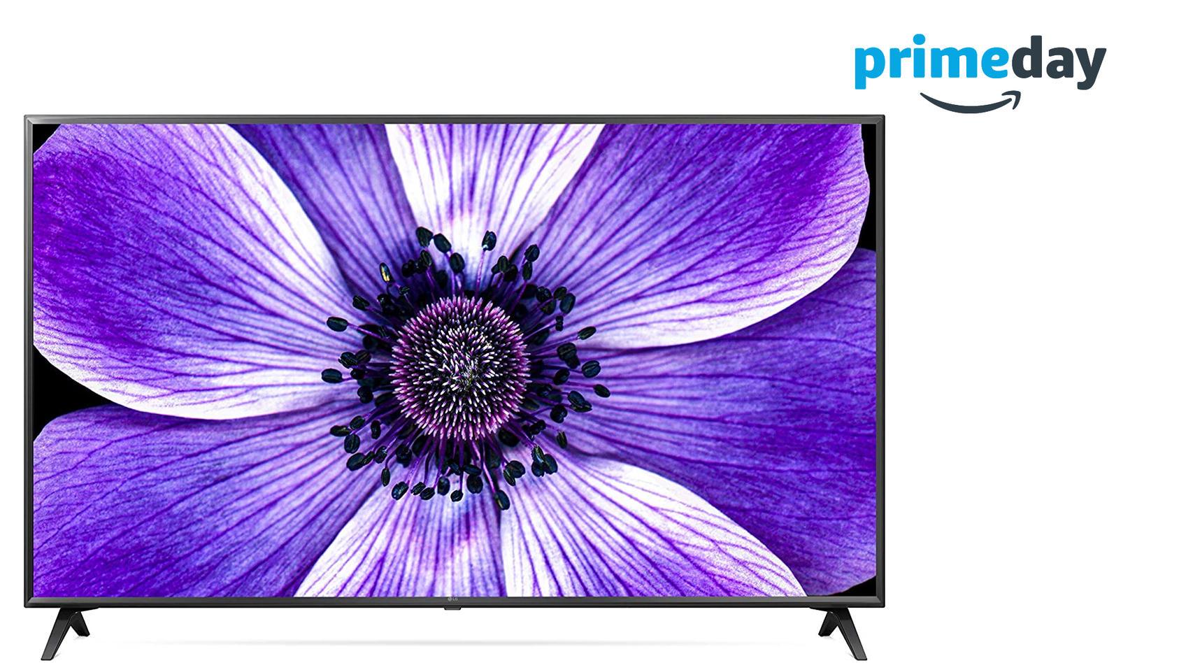 Die Preise für TV-Geräte, zum Beispiel der 65-Zoll-UHD-Fernseher von LG, sind zum Prime Day 2020 stark reduziert.