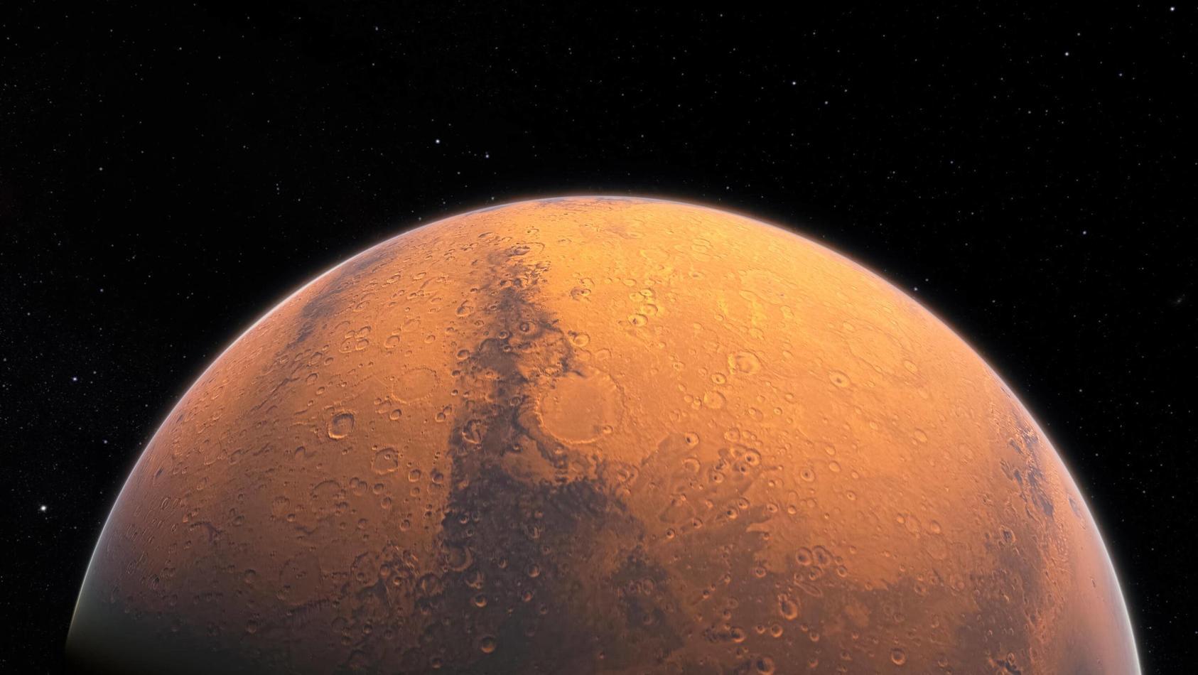Der rote Planet kommt zu Besuch.