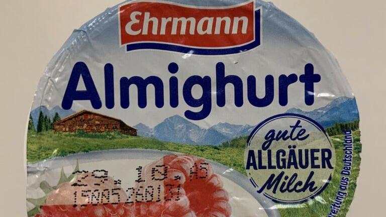 Ehrmann ruft seinen Himbeer-Fruchtjoghurt zurück.