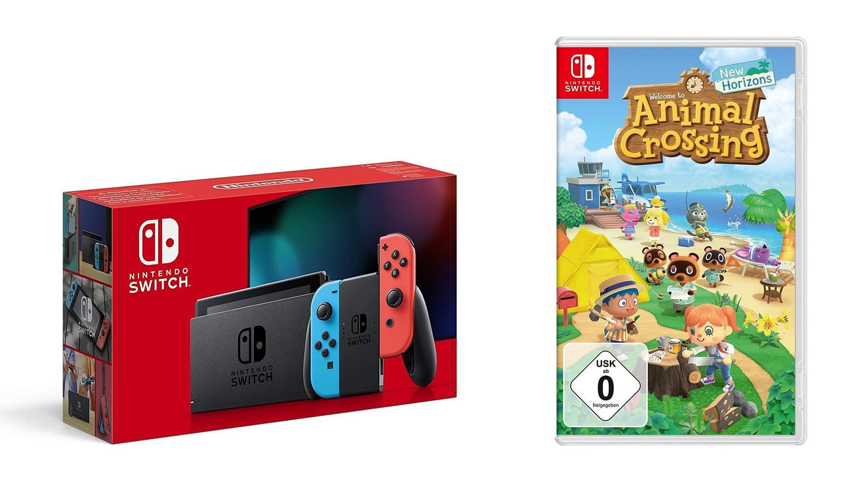 """Die Nintendo Switch gibt es am Prime Day günstiger im Bundle mit der Simulation """"Animal Crossing: New Horizons""""."""