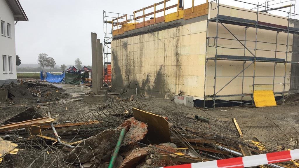 Baustelle in Denklingen: Vier Bauarbeiter tödlich verunglückt