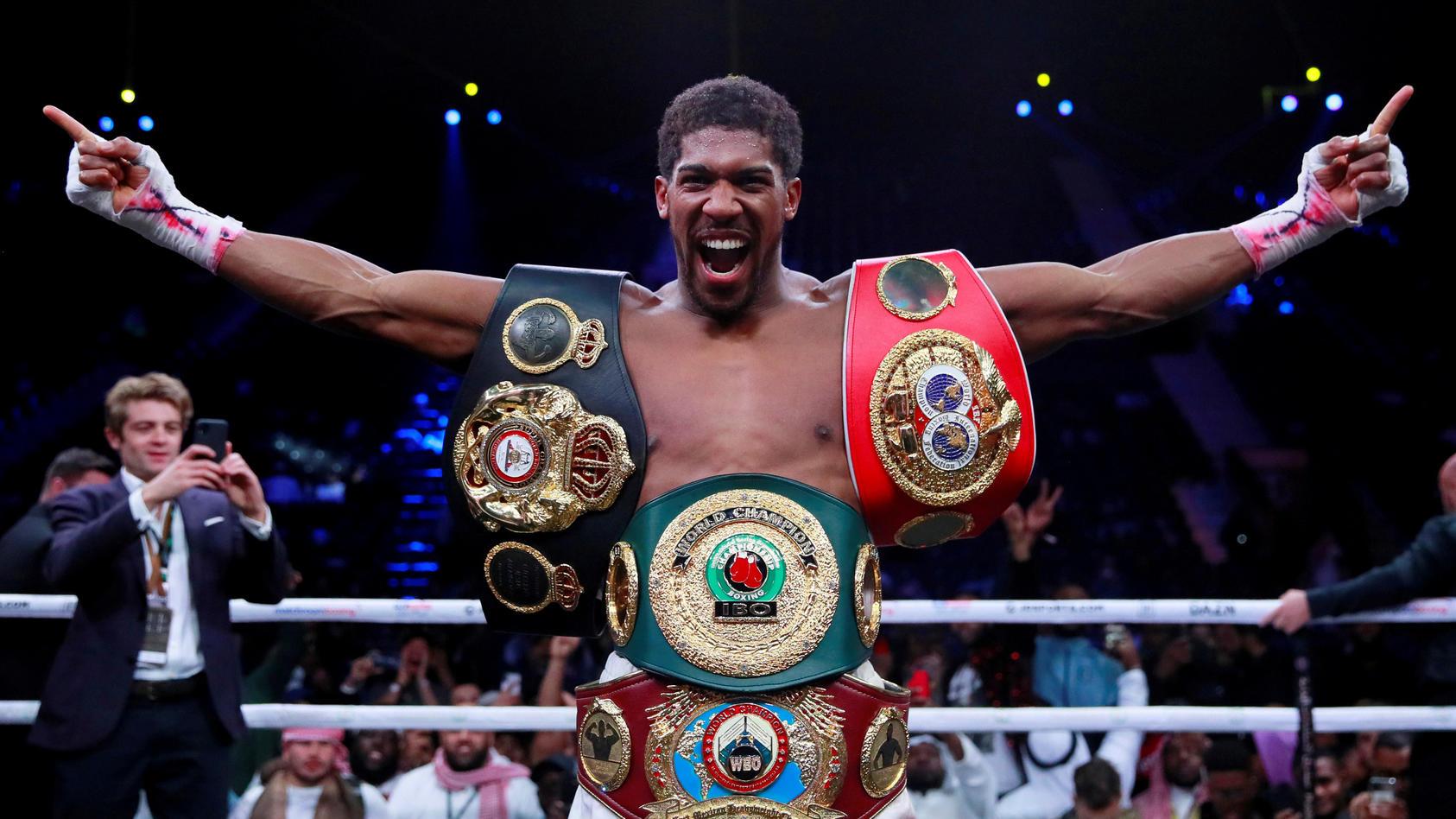 FILE PHOTO: Anthony Joshua - IBF, WBA, WBO & IBO World Heavyweight Titles