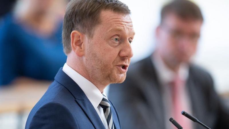 Michael Kretschmer (CDU), Ministerpräsident von Sachsen. Foto: Sebastian Kahnert/dpa-Zentralbild/dpa/Archiv
