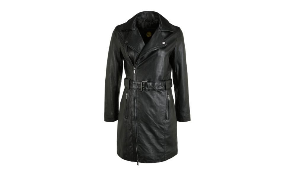Mantel in Leder-Optik.