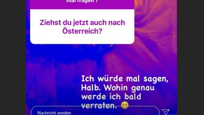 Ihre Fans befragen Natascha Ochsenknecht zu ihren Umzugsplänen.