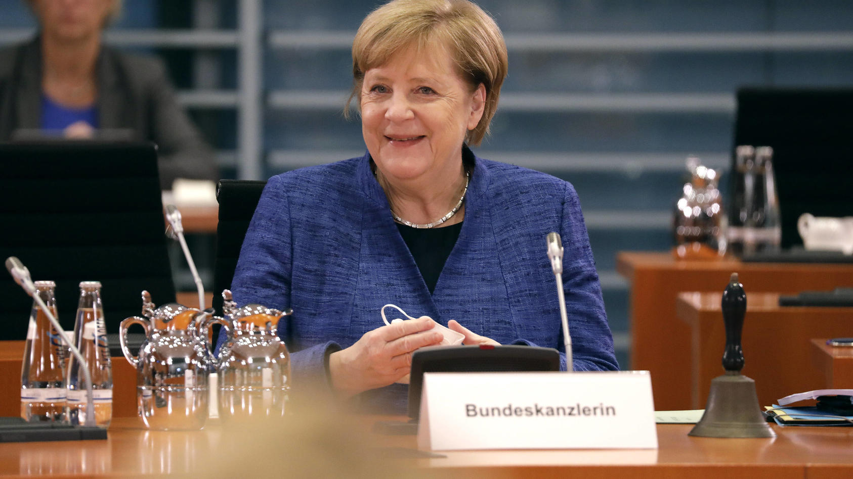 News Bilder des Tages Angela Merkel, Bundeskanzlerin, CDU, Bundeskabinett, DEU, Berlin, 21.10.2020 *** Angela Merkel, Fe