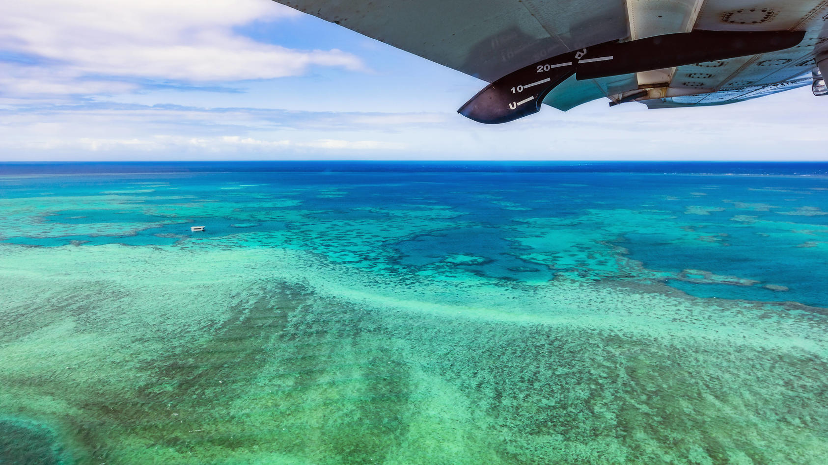 Australia, Queensland, Aerial view of Great Barrier Reef PUBLICATIONxINxGERxSUIxAUTxHUNxONLY THAF02731