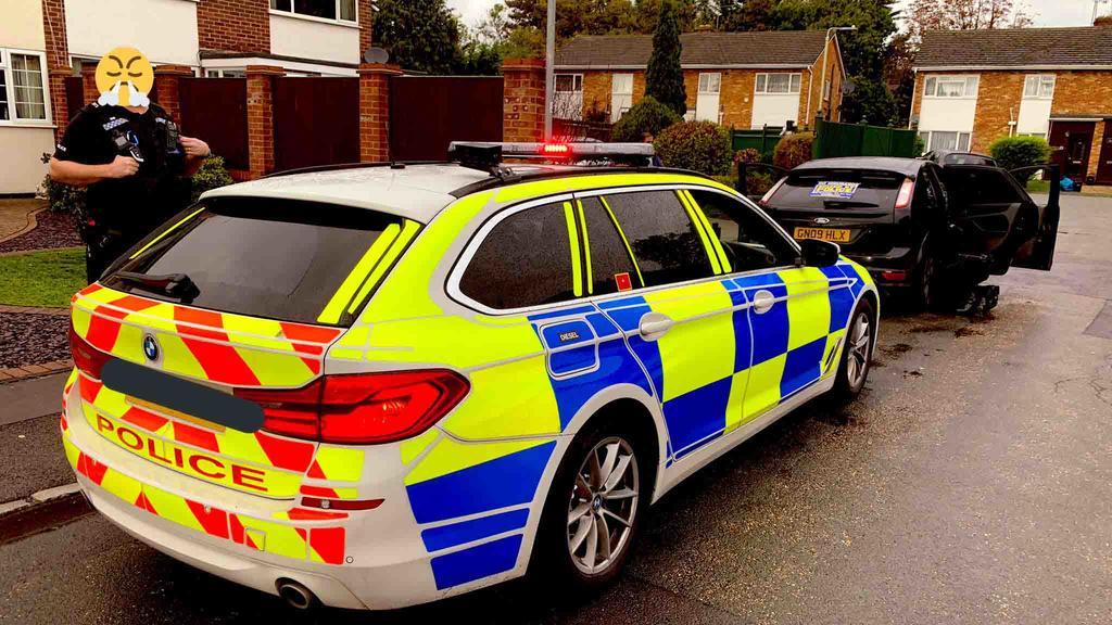 Der Kunde eines Fast-Food-Restaurants war wohl ziemlich überrascht, als die Polizei plötzlich vor seiner Haustürstand.