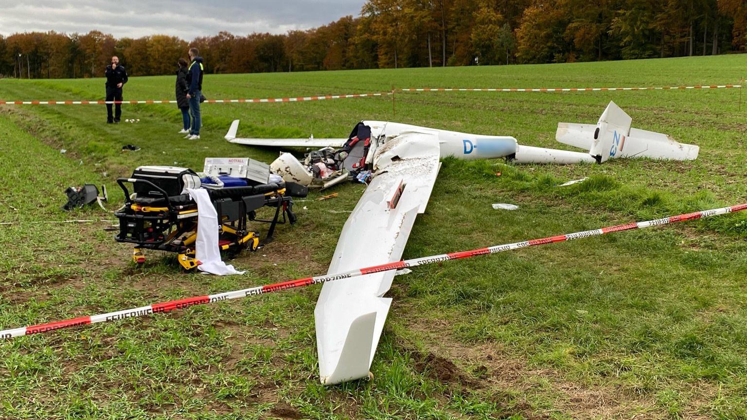 27-Jähriger stürzt mit Segelflugzeug ab