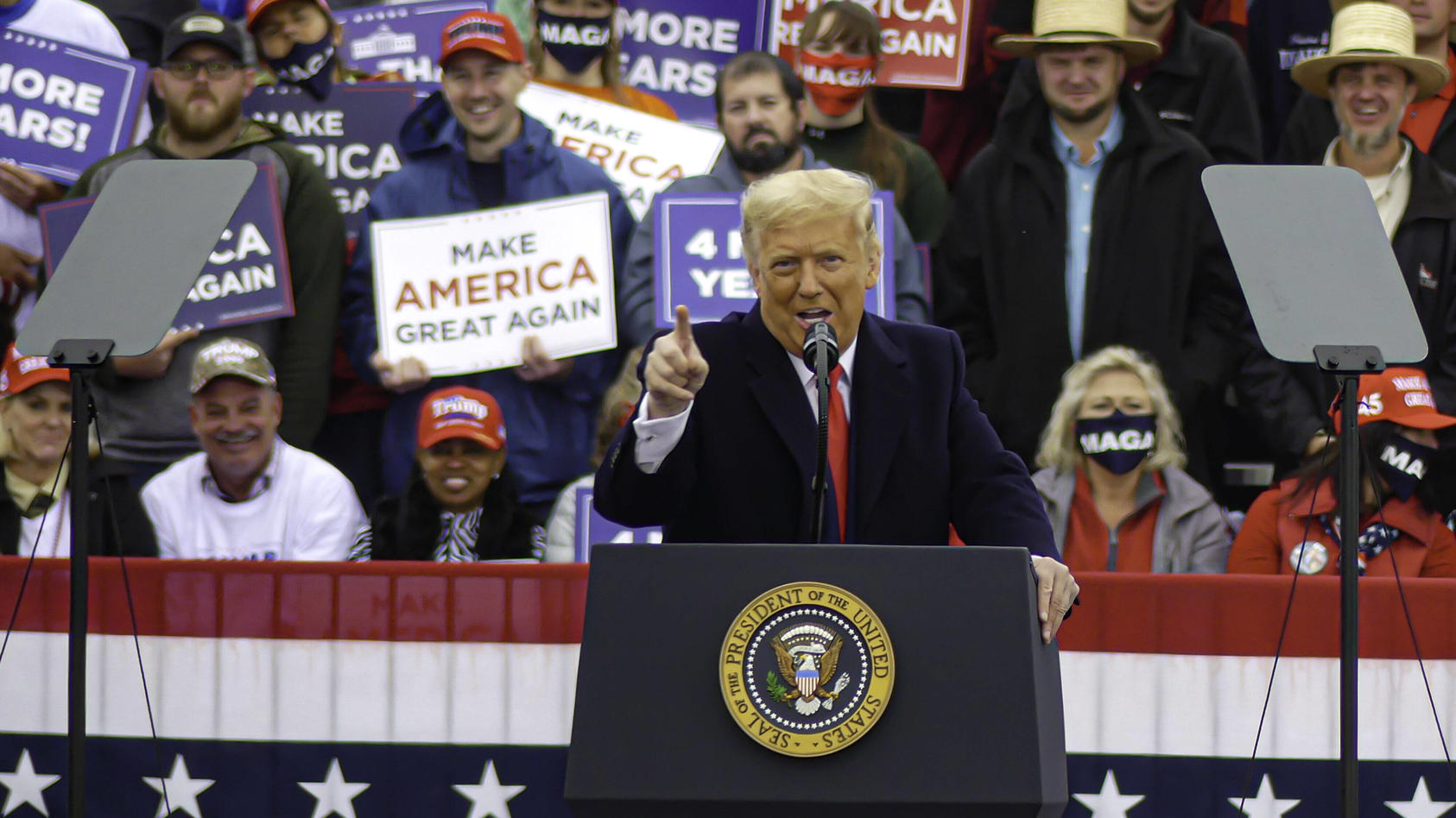 US President Trump Returns to Energize his Electoral Base in Pennsylvania. US President Trump Returns to Energize his E