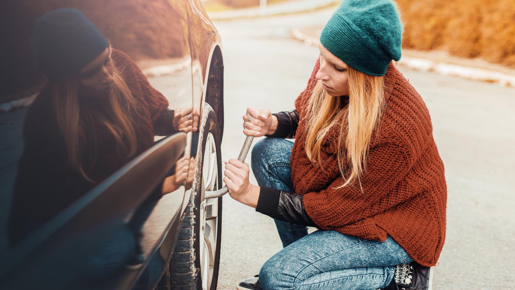 Nach dem Reifenwechsel sollte man die Radschrauben überprüfen.