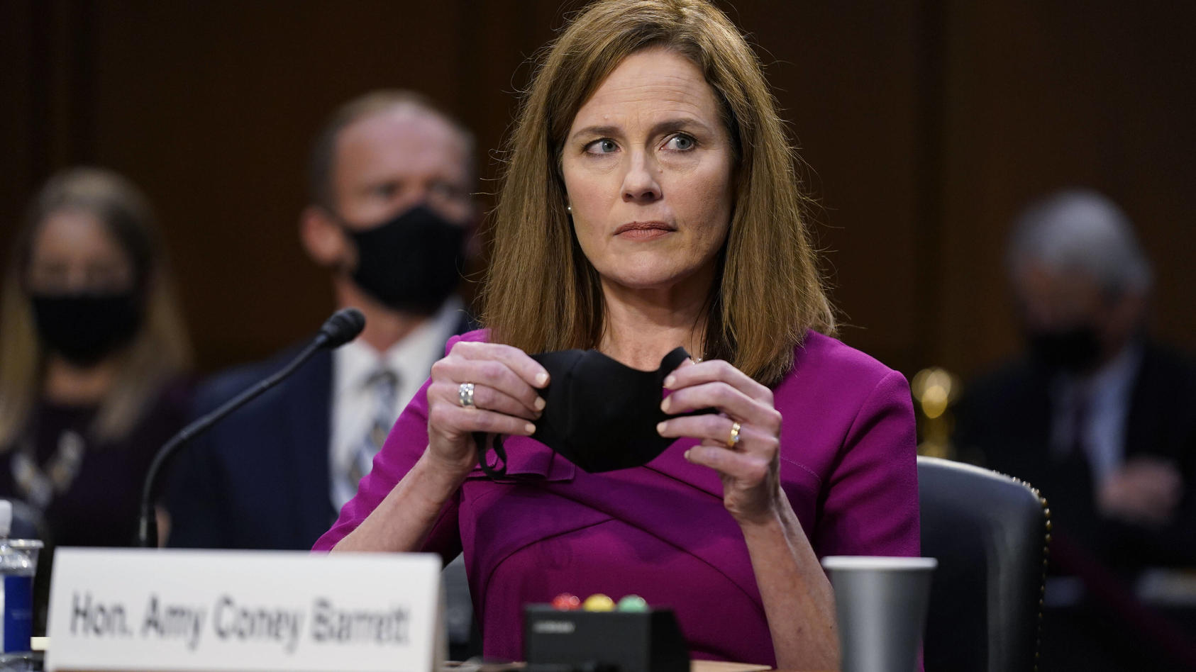 Supreme Court nominee Judge Amy Coney Barret prepares to speak during her confirmation hearing before the Senate Judici