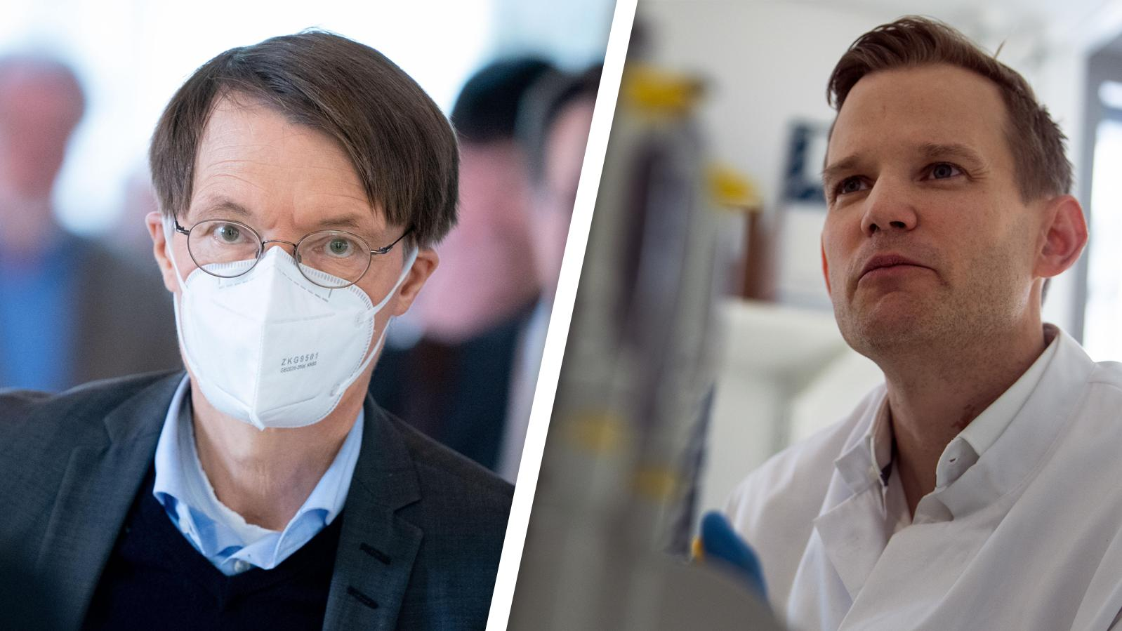 Karl Lauterbach und Hendrik Streeck vertreten unterschiedliche Ansichten- meistens.