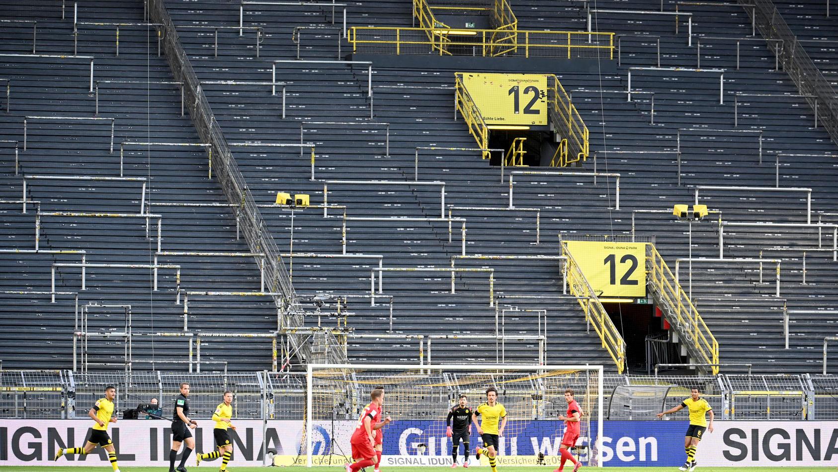 Geisterspiel im Dortmunder Stadion