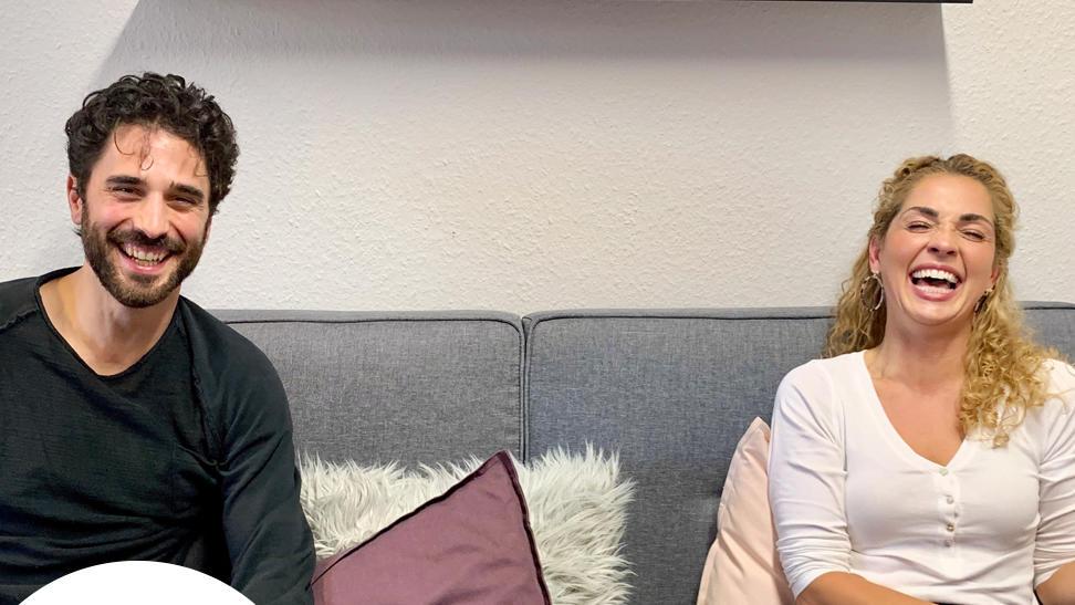 Jan Kittmann und Maria Wedig beim GZSZ-Podcast.