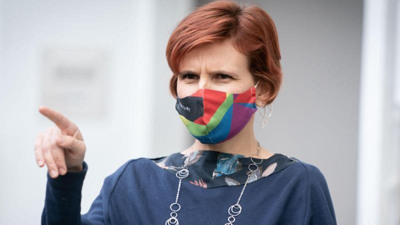 """Linken-Chefin Katja Kipping erwartet wegen Corona ein """"Comeback der sozialen Frage"""". Foto: Kay Nietfeld/dpa"""