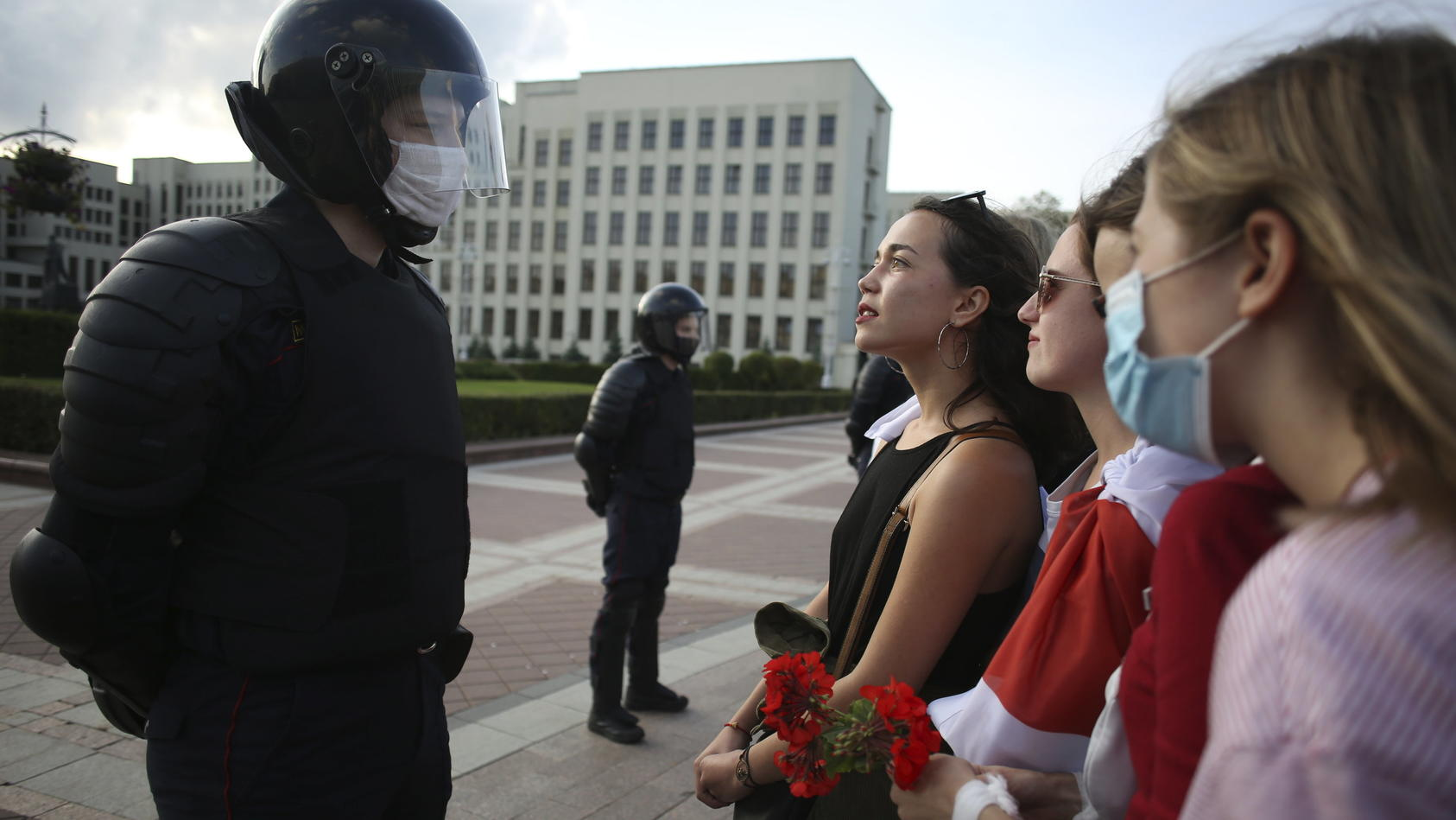 Frauen bei Protesten in Belarus (Archivbild vom 5. September)