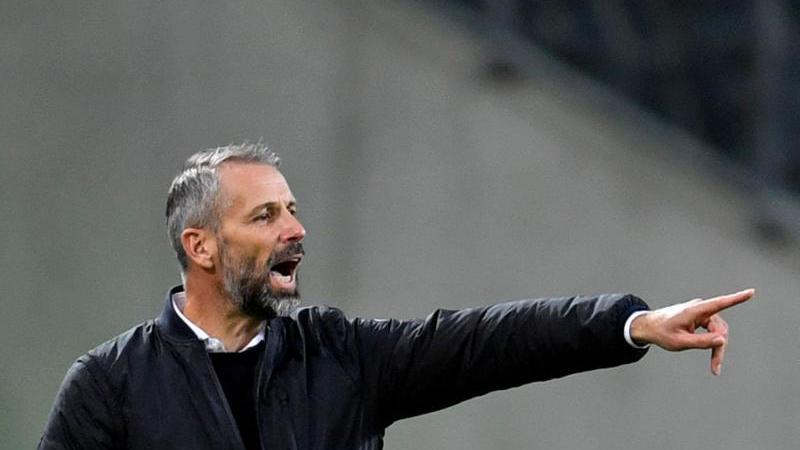 Trainer Marco Rose von Mönchengladbach. Foto: Marius Becker/dpa/Archivbild