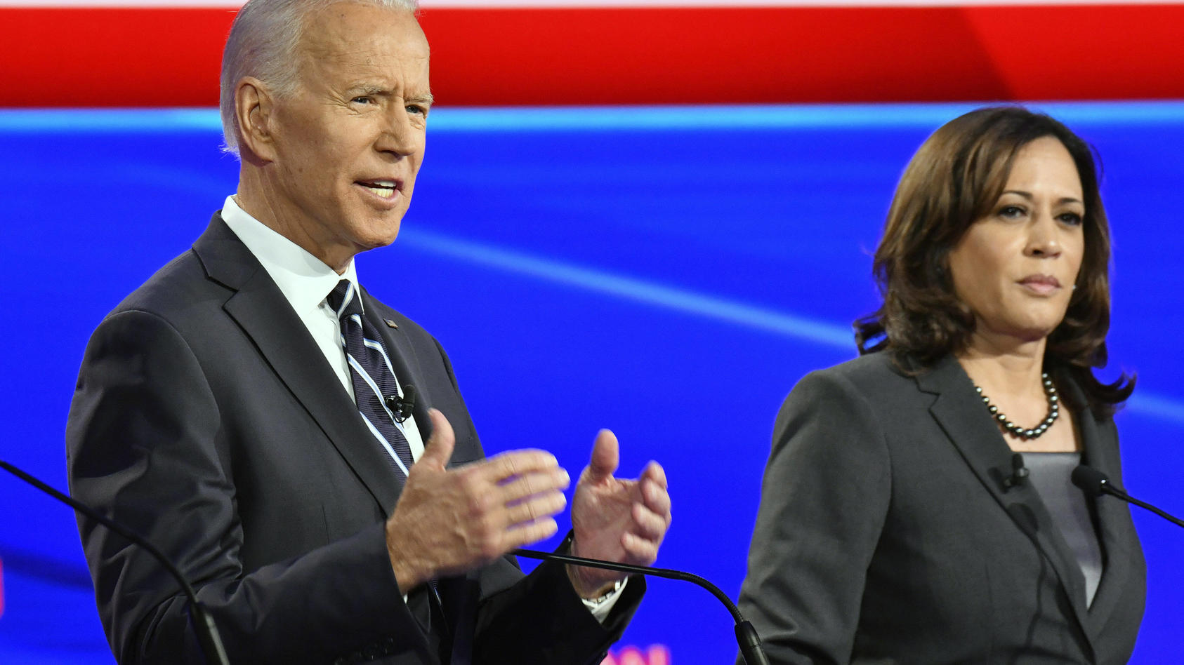 Democratic presidential candidate Joe Biden announced today that he has chosen Sen. Kamala Harris, D-Calif., as his run