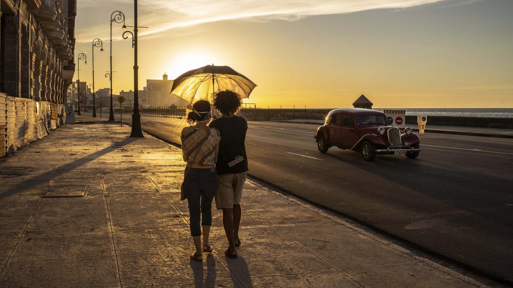 So leer ist es derzeit noch auf den Straßen von Havanna